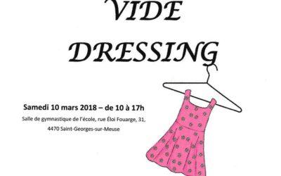 Vide dressing le samedi 10 mars 2018 à Saint-Georges