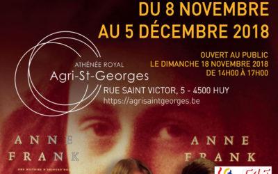 Exposition Anne Frank du 8 novembre au 5 décembre