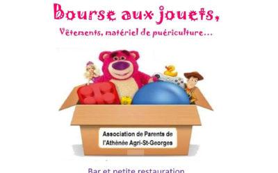 Bourse aux jouets, vêtements, matériel de puériculture