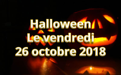 Invitation Halloween le vendredi 26 octobre 2018