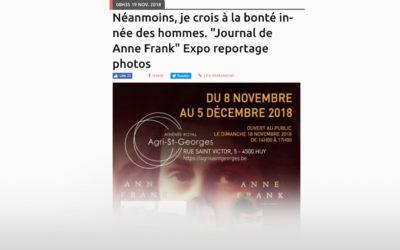 Une belle mise en valeur de nos élèves guides pour l'exposition Anne Frank