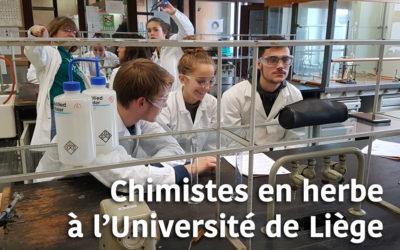 Les élèves de 4 et 5 SA de l'Athénée Agri-Saint-Georges : chimistes en herbe à l'Université de Liège