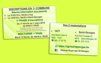 Inscriptions en 1re commune
