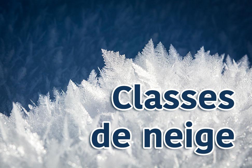 Nos élèves de P6 sont bien arrivés en classes de neige