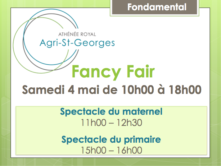 Fancy Fair le samedi 4 mai de 10 h à 18 h